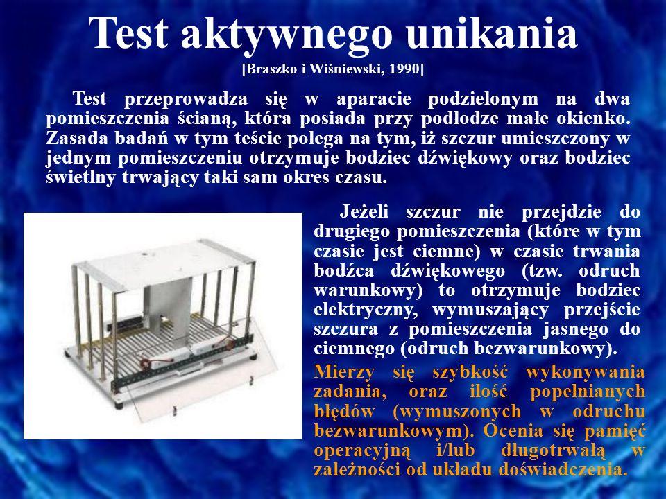 Test aktywnego unikania [Braszko i Wiśniewski, 1990]